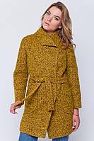 Зимнее пальто «Эйми» горчица S
