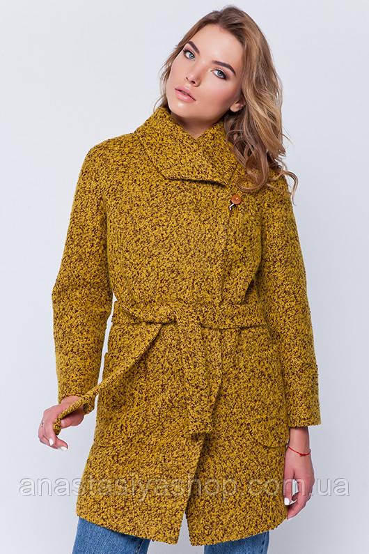 Зимнее пальто «Эйми» горчица XL