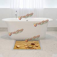 """Наклейка для ванной """"Песок с ракушками"""" 3d 90х58 см"""