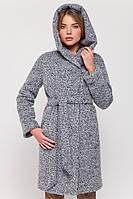 """Зимнее пальто с капюшоном """"Клер"""" серый"""