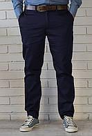 Классические мужские брюки Чинос  темно-синие