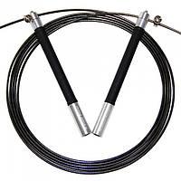 Скакалка скоростная BuyJumpRopes GIANTPOWER с регулируемой длиной (Серебристая)
