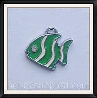 Подвеска с эмалью Рыбка (1,9*2,1 см)