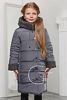 Детская зимняя куртка прямого покроя  на девочку