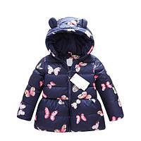 Пальто зимнее детское бабочки
