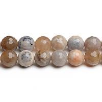 Океанический Граненый Агат, Натуральный камень, На нитях, бусины 8 мм, Отверстие 1 мм, кол-во: 48 шт/нить