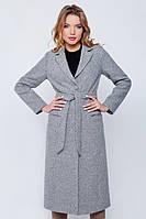 Длинное пальто «Валери» серое