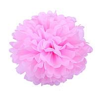 Помпон из бумаги 20 см. розовый