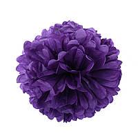 Помпон из бумаги 20 см. фиолетовый