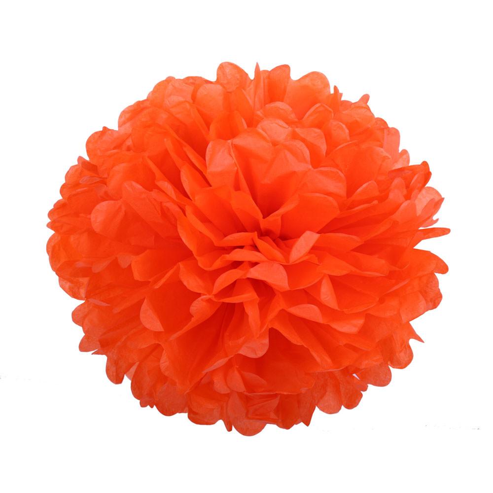 Помпон з паперу 25 див. помаранчевий