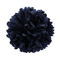 Помпон з паперу 25 див. чорний