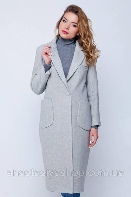 """Длинное пальто """"Одри"""" светло-серое XS - """"Anastasiya-shop"""" в Запорожской области"""