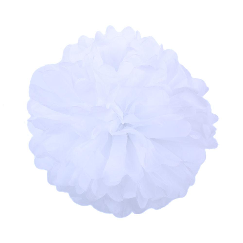 Помпон из бумаги 35 см. белый