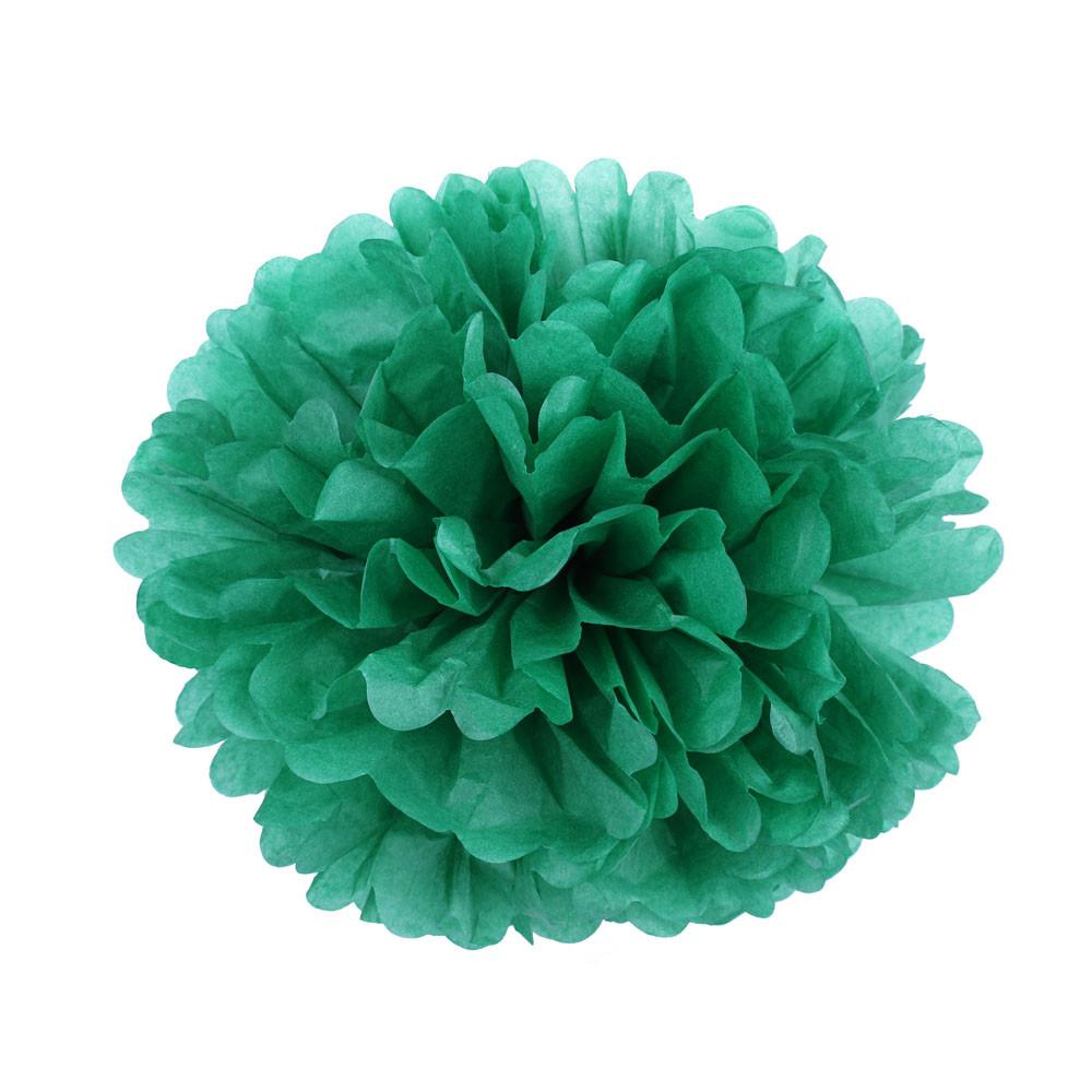 Помпон з паперу 35 див. темно-зелений