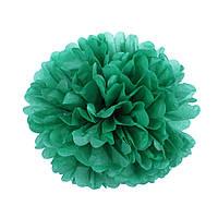 Помпон из бумаги 35 см. темно-зеленый