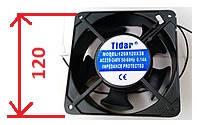 Вытяжной вентилятор (квадратный) 5-ТИ ЛОПОСТНОЙ 120Х120Х38, 220 V мощность 0.14А