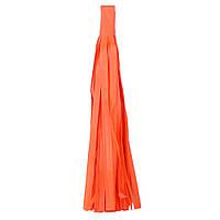 """Помпон """"Кисточка"""" из бумаги 20 см. оранжевый"""