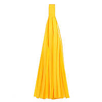 "Помпон ""Кисточка"" из бумаги 20 см. ярко-желтый"