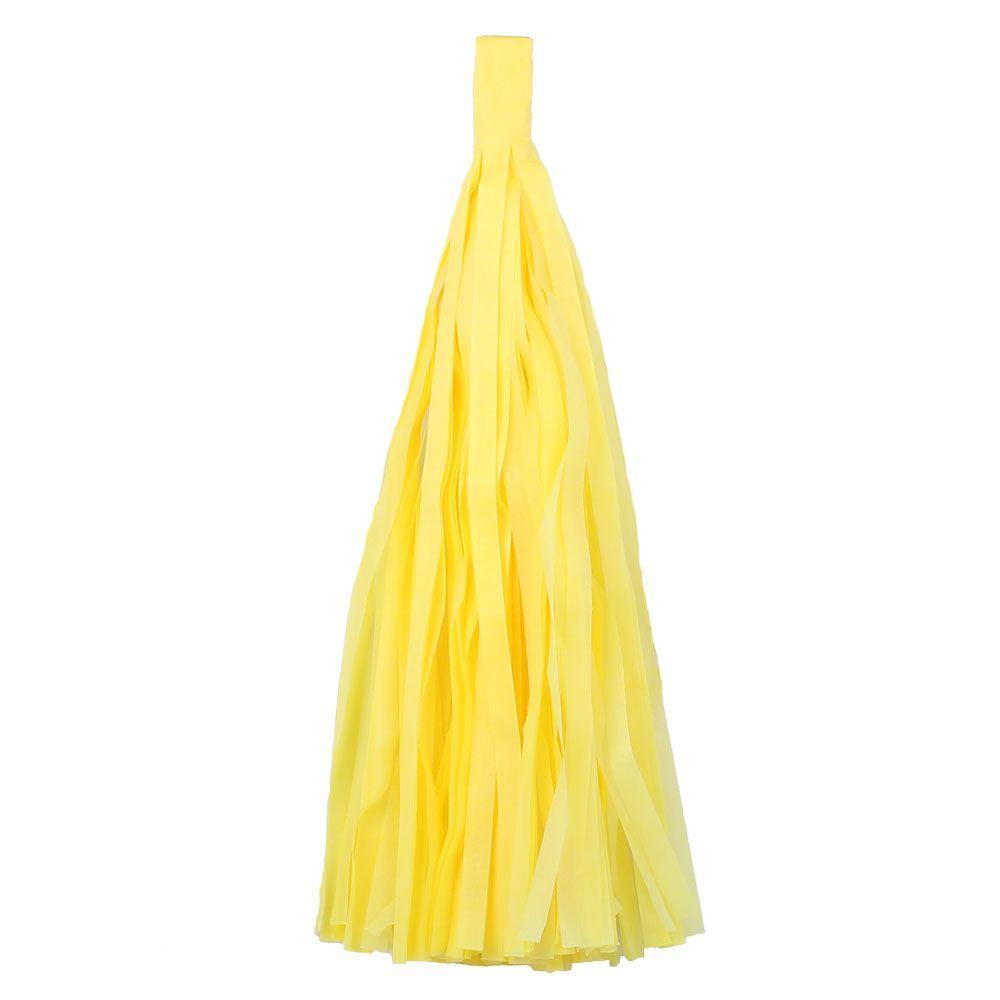"""Помпон """"Кисточка"""" из бумаги 20 см. желтый"""