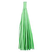 """Помпон """"Кисточка"""" из бумаги 20 см. зеленый"""