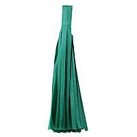 """Помпон """"Кисточка"""" из бумаги 20 см. темно-зеленый"""