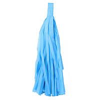 """Помпон """"Кисточка"""" из бумаги 20 см. голубой"""