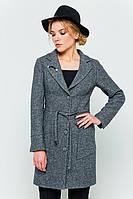 """Пальто с брошью """"Шерон"""" темно-серый"""