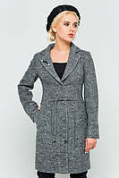 "Пальто с брошью ""Шерон"" серый"