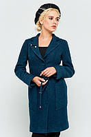 """Пальто с брошью """"Шерон"""" синий"""