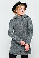 """Пальто с вязаными рукавами """"Молли"""" серое"""