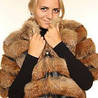 Куртка- полушубок-шуба из натурального меха лисы