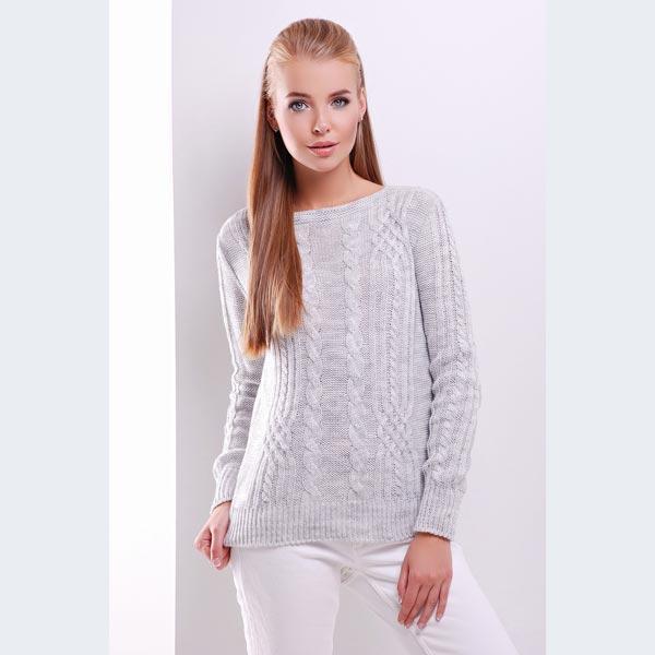 564995835576 Женский вязаный свитер с узорами жгуты купить в интернет магазине | Цена |  Киев, ...