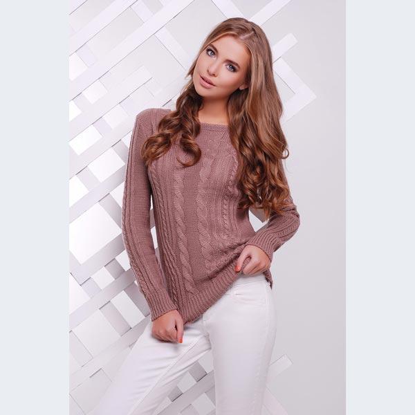 Стильный женский свитер цвета фриз