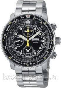 Чоловічі годинники Seiko SNA411 Flight Alarm Chronograph