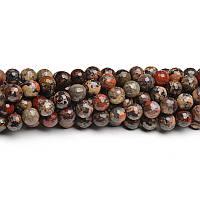 Маковая Яшма Граненая, Натуральный камень, На нитях, бусины 8 мм, Шар, кол-во: 47-48 шт/нить