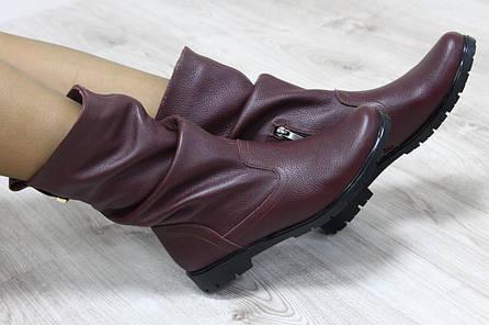 Зимние кожаные полусапожки на зиму