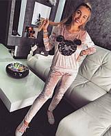 """Костюм Doratti модный из бархата с кружевом и камнями свитшот и брюки """"MIKI"""" Ddor614"""
