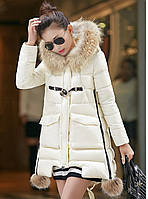 Женская зимняя куртка с мехом. Модель 6392., фото 5