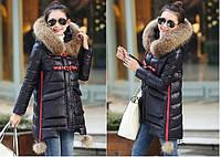 Женская зимняя куртка с мехом. Модель 6392., фото 3