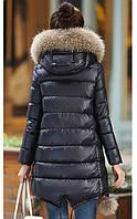 Женская зимняя куртка с мехом. Модель 6392., фото 4