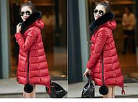 Женская зимняя куртка с мехом. Модель 6392., фото 2