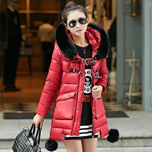 Женская зимняя куртка с мехом. Модель 6392.
