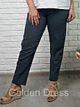 Женский стильные укороченные брюк больших размеров (4 цвета), фото 3