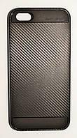 Чехол на Айфон 5/5s/SE SGP Neo Hybrid Силикон и Пластик Черный Серый, фото 1