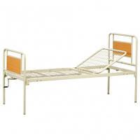 Ліжко функціональне механічне 2х-секційне без коліс, фото 1