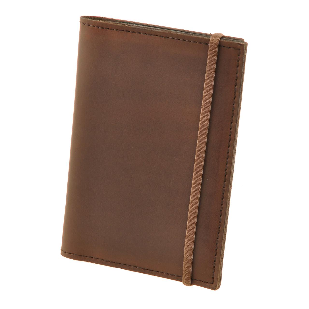 """Обложка для паспорта кожаная """"Орех"""" + блокнотик"""