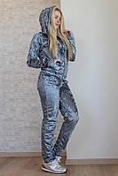 Бархатный костюм с капюшоном 9- 276, фото 1