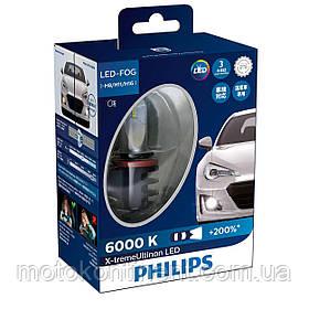 PHILIPS LED H8/H11/H16 Cветодиодные лампы PHILIPS в ПТФ H8/H11/H16 X-treme Ultinon LED Fog 6000K 12834UNIX2