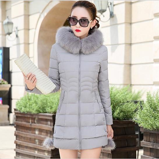 Жіноча зимова куртка із знімним хутром. Модель 6393.