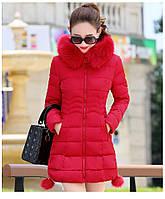 Жіноча зимова куртка із знімним хутром. Модель 6393., фото 3
